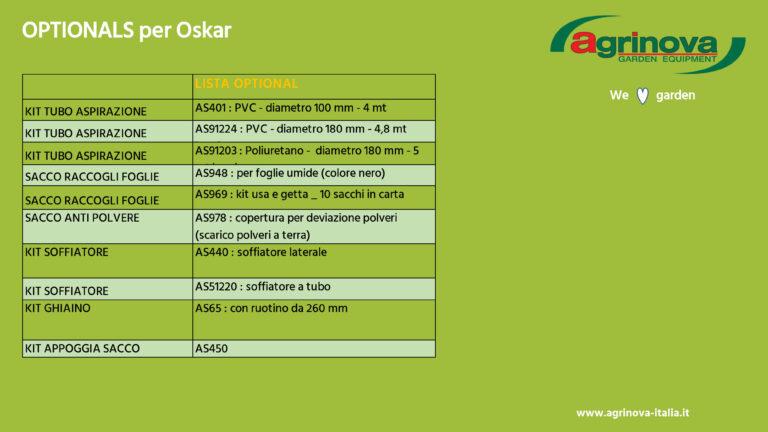 Aspirafoglie Oskar Agrinova 2