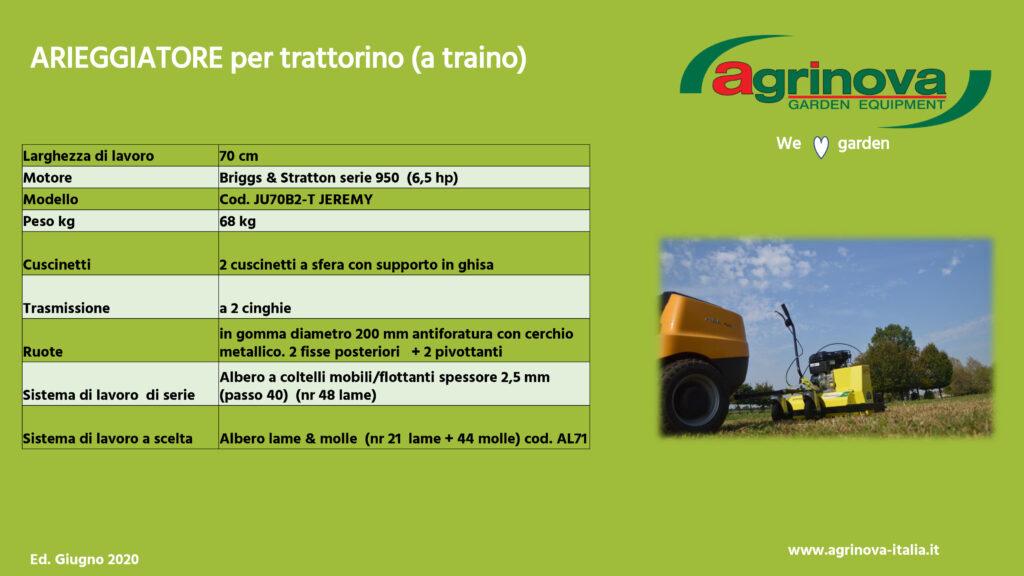 tab tecnica jeremy 70 trattorino italiano