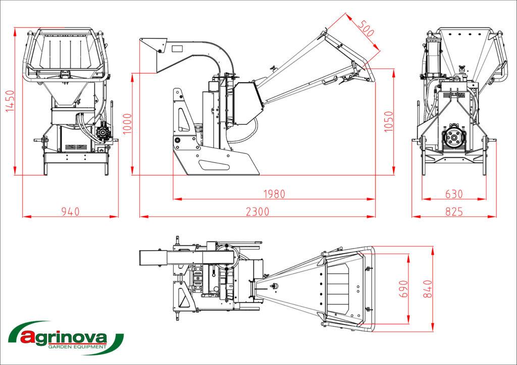 ZEFFIRA trattore misure