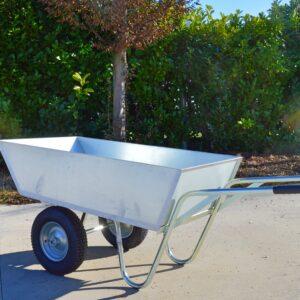 CARRIOLA 200 lt vasca zincata e ruote gonfiabili «Cary-one»