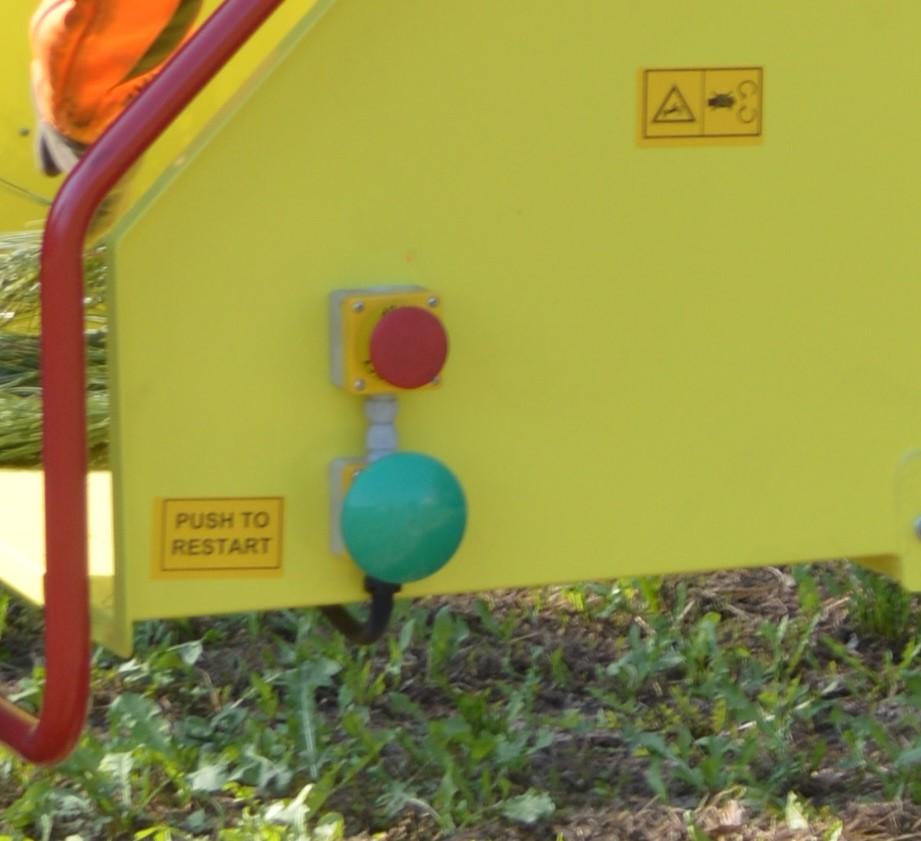 10 da ritagliare pulsante Emergency Restart Cippatore Zenith Agrinova